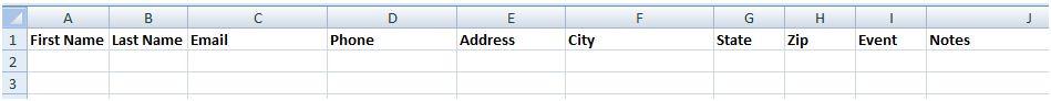 Contact Spreadsheet